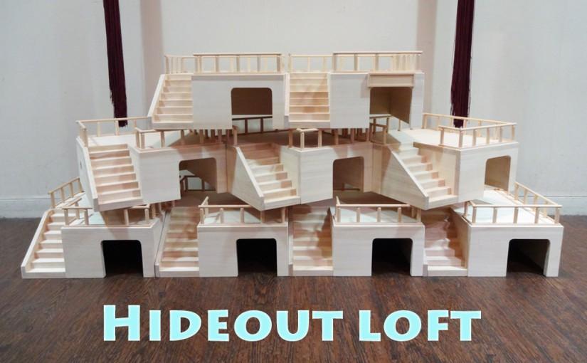 ハリネズミ 小動物用 ハウス 隠れ家兼ロフト 300サイズ